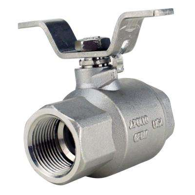 3/4 in. Stainless Steel FNPT x FNPT Full-Port Ball Valve With Tee Handle