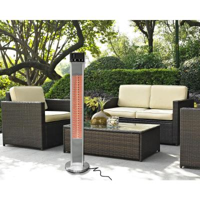 1500-Watt Infrared Electric Freestanding Outdoor Heater with Remote