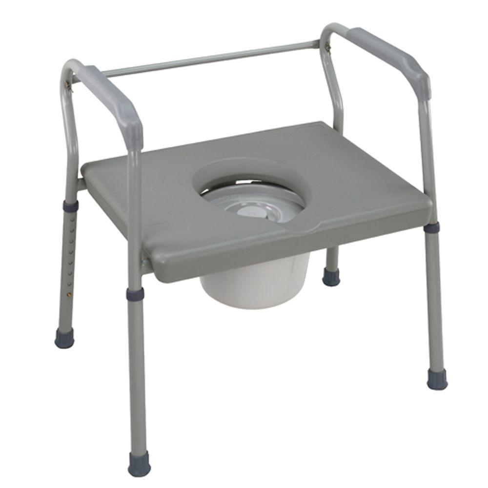 DURO-MED DMI Heavy-Duty Bariatric Steel Bedside Commode