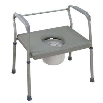Duro-Med Heavy-Duty Steel Commode with Platform Seat