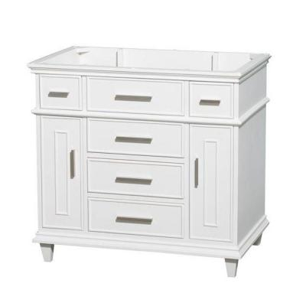 Berkeley 36 in. Vanity Cabinet Only in White