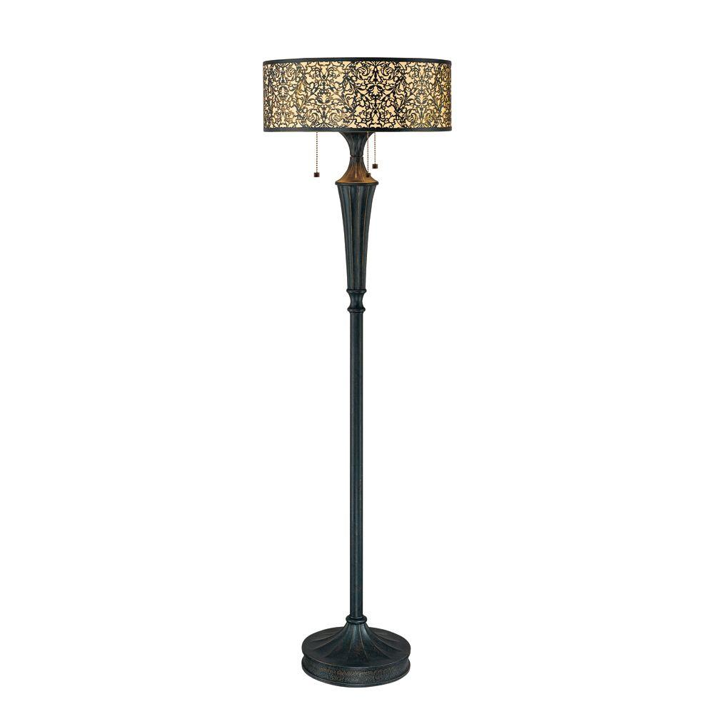 Easylite Melosa 58 in. 3-Light Floor Lamp-DISCONTINUED