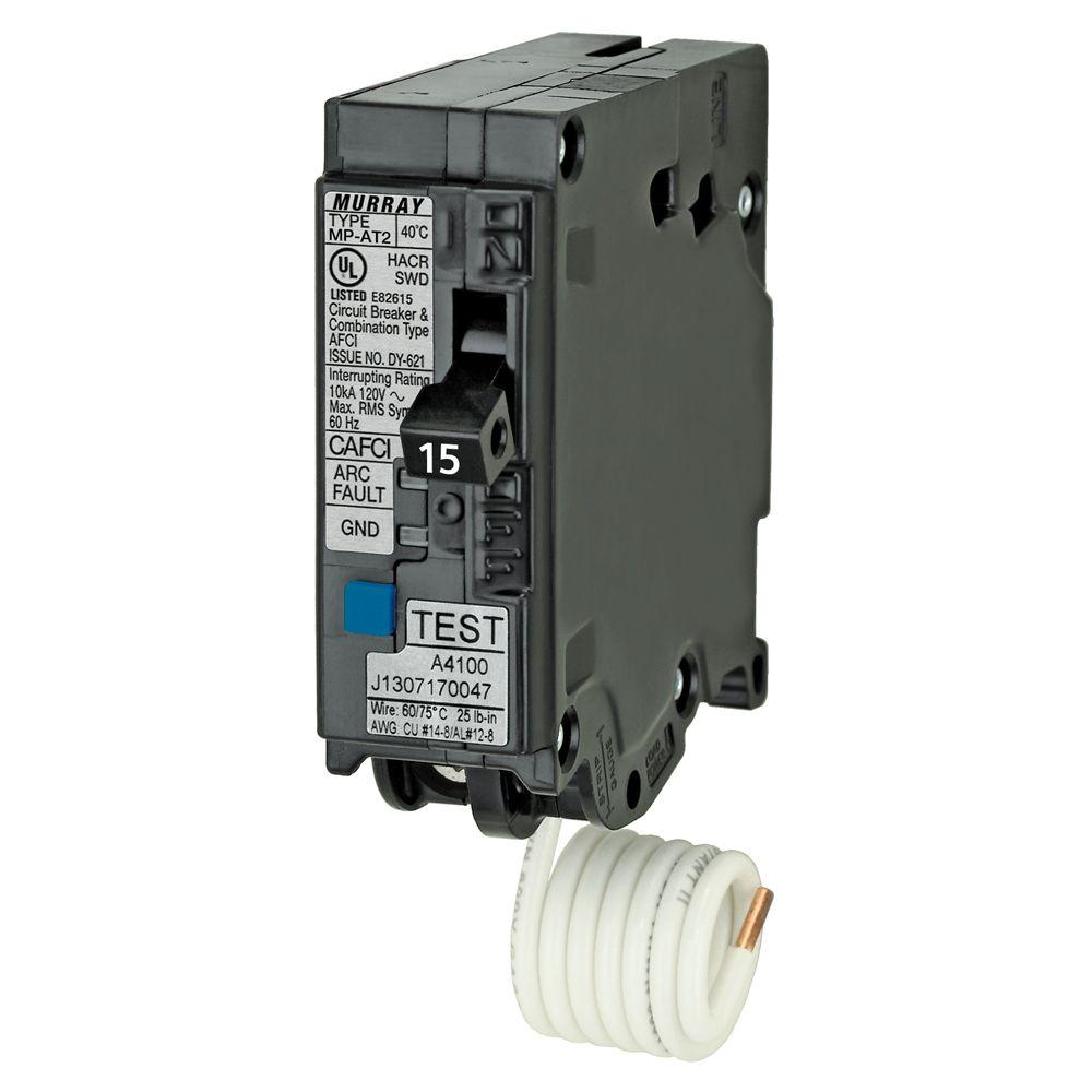 N 15 Amp 1 in. Single-Pole Combination AFCI Circuit Breaker-US2 ...