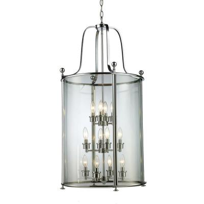 Lawrence 12-Light Chrome Incandescent Ceiling Pendant