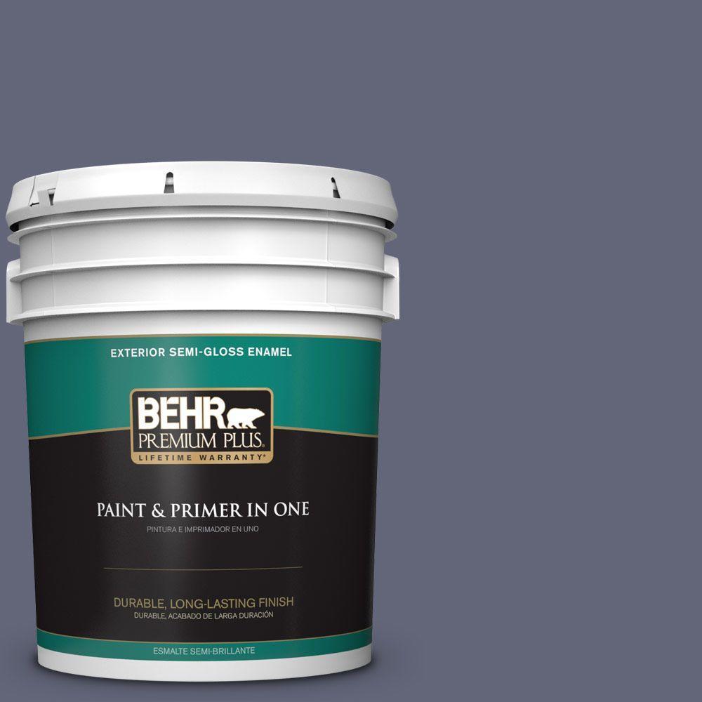 BEHR Premium Plus 5-gal. #630F-6 Violet Evening Semi-Gloss Enamel Exterior Paint