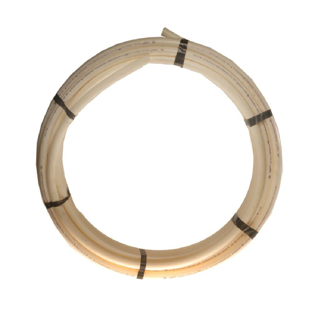 Zurn 3 8 in x 100 ft pex tubing in white q2pc100x the for Pex drain pipe