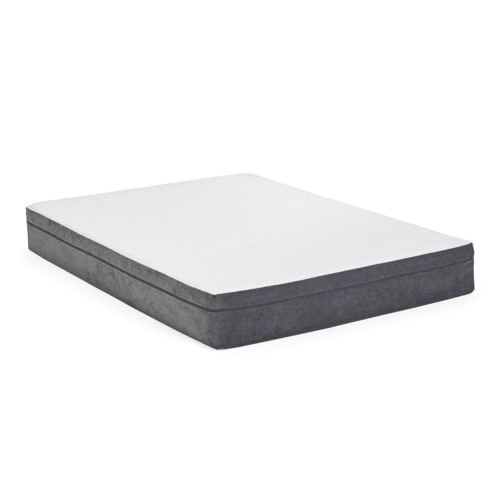 10 in. Rose Twin Long Memory Foam Mattress