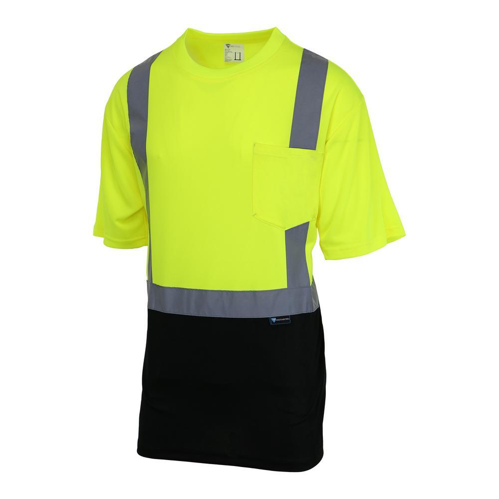 Unisex Medium Hi-Vis Black Short-Sleeve Safety Shirt