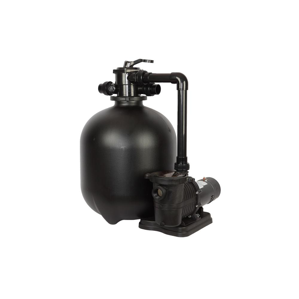 Pro 22.9 in. 300 lbs. Sand Filter System with 1 HP