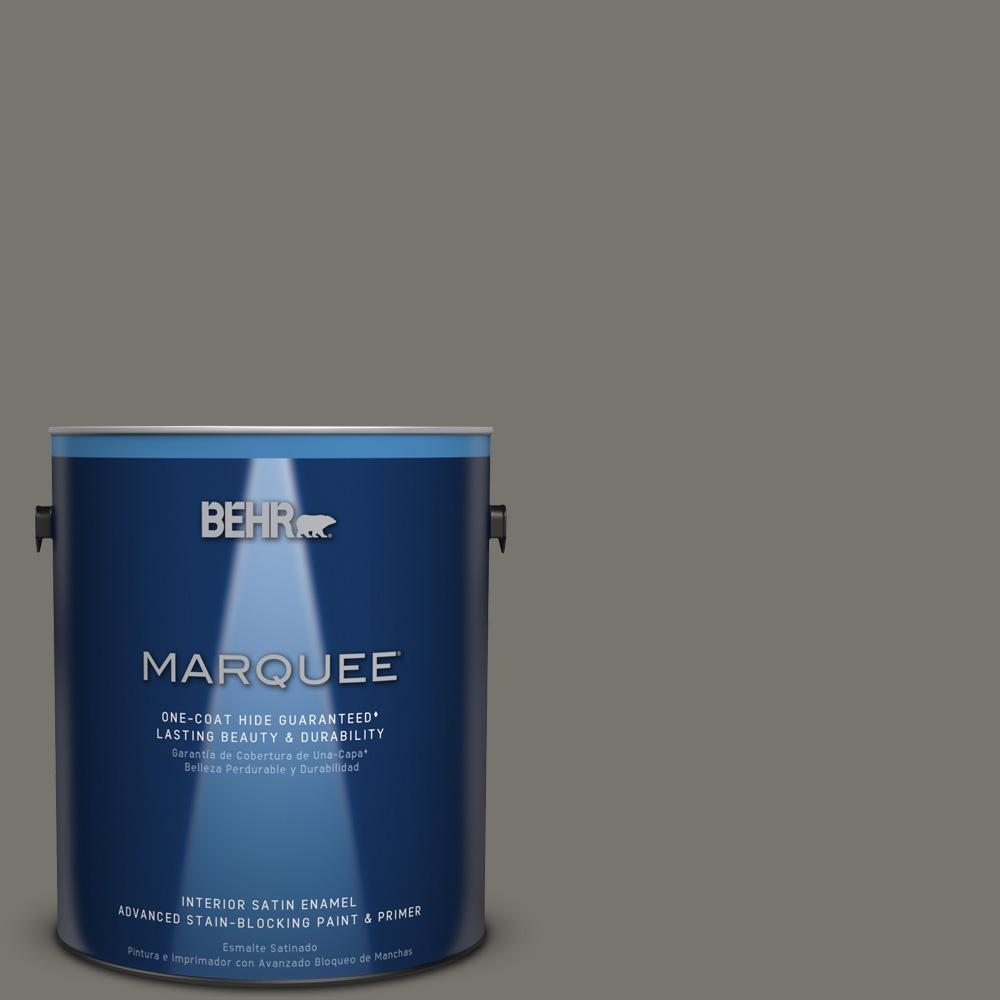 1 gal. #PPU24-06 Slippery Shale Satin Enamel Interior Paint