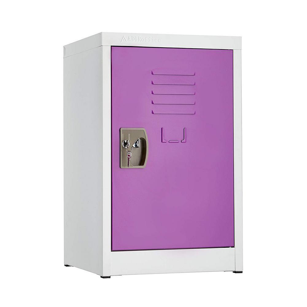 24 in. H x 15 in. W Steel Single Tier Locker in Purple