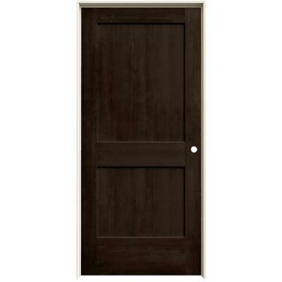 36 in. x 80 in. Monroe Espresso Stain Left-Hand Solid Core Molded Composite MDF Single Prehung Interior Door