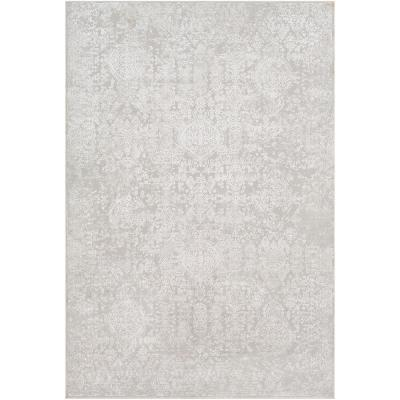 Marquis Grey 7 ft. 10 in. x 10 ft. 3 in. Medallion Area Rug