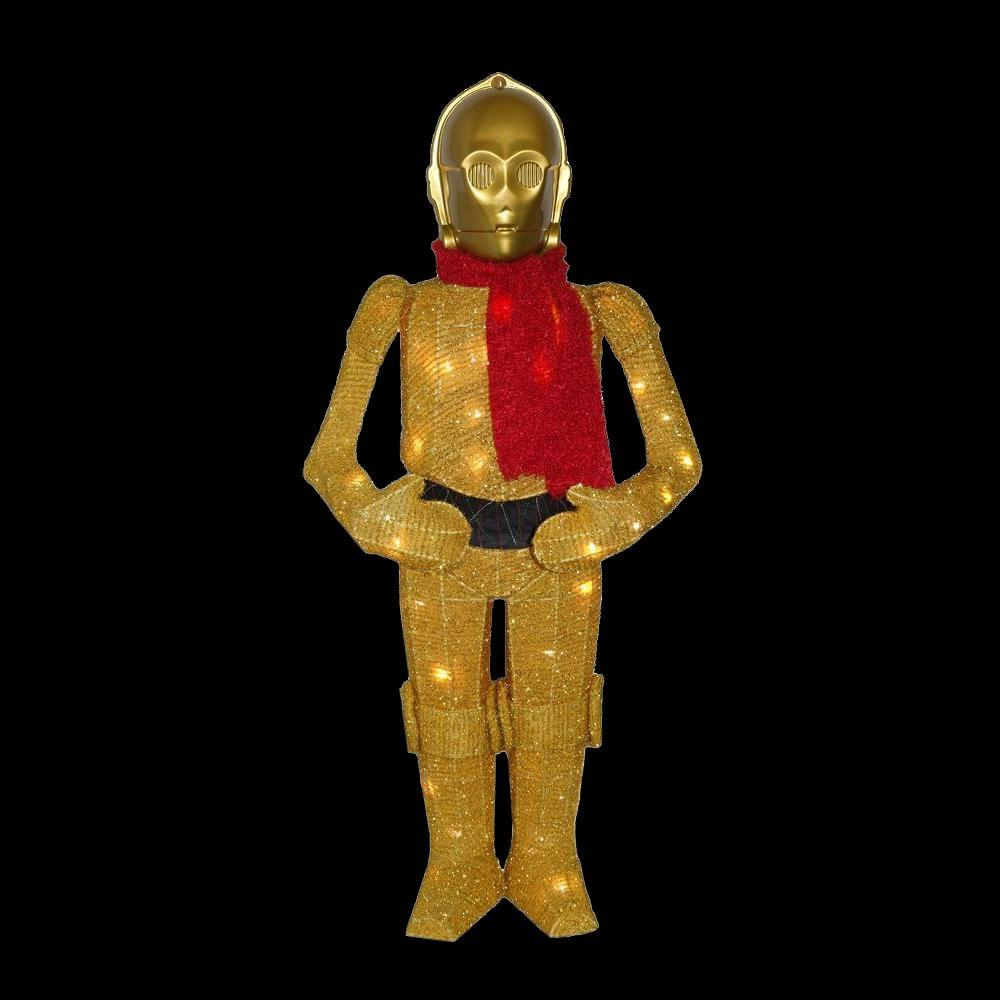 Kurt s adler 36 in star wars c3po yard decor zhdusw9151 the home depot for Home depot christmas decorations for the yard
