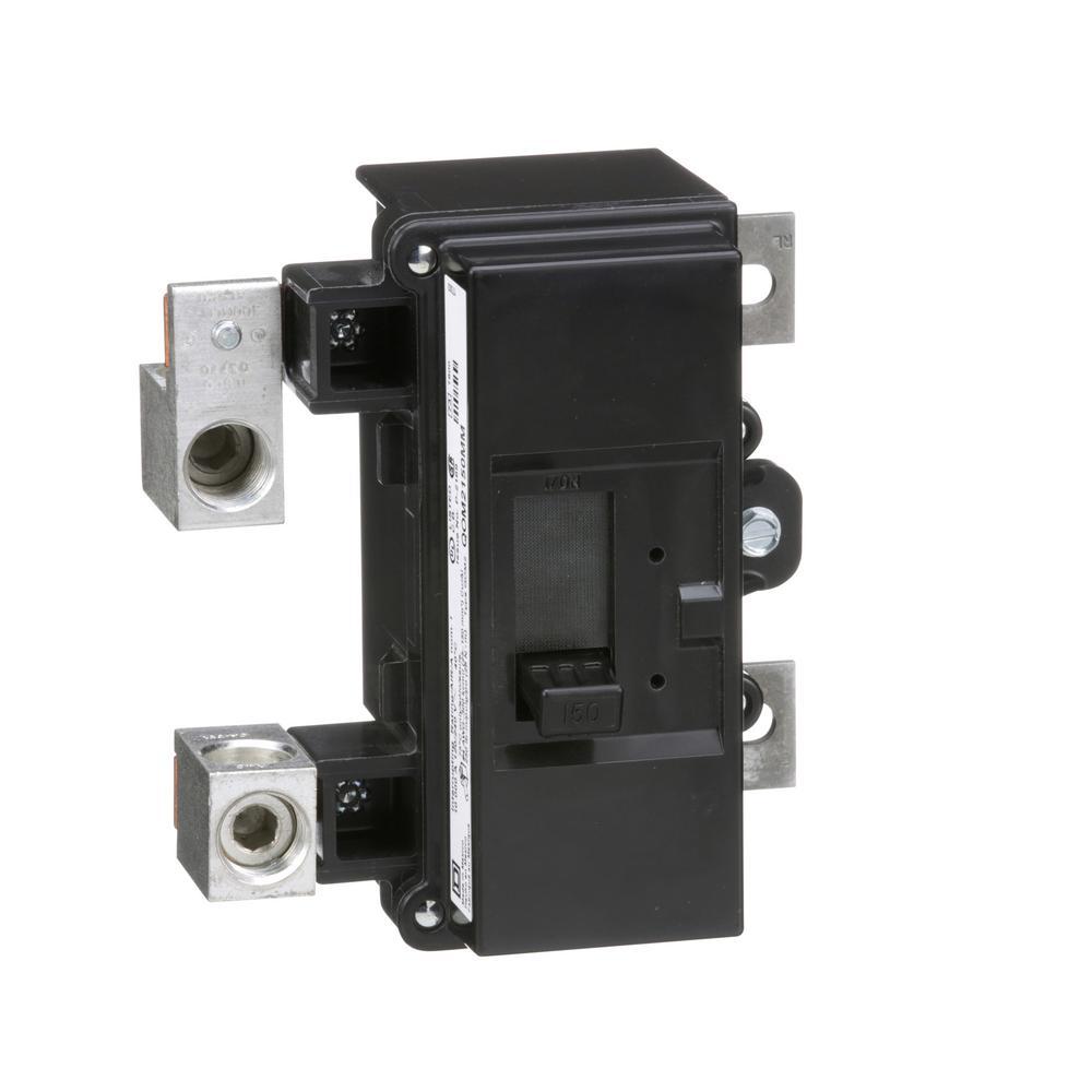 QO 150 Amp 10kA 2-Pole Bolt-On QOM2 Frame Size Main Circuit Breaker