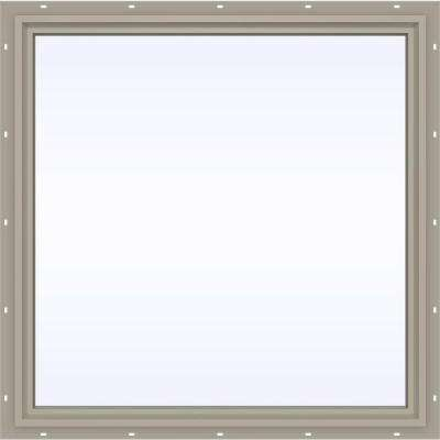 47.5 in. x 47.5 in. V-4500 Series Fixed Picture Vinyl Window - Tan
