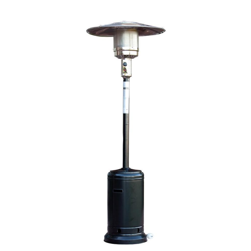 Fire Sense 46K BTU Standard Black Patio Heater-DISCONTINUED