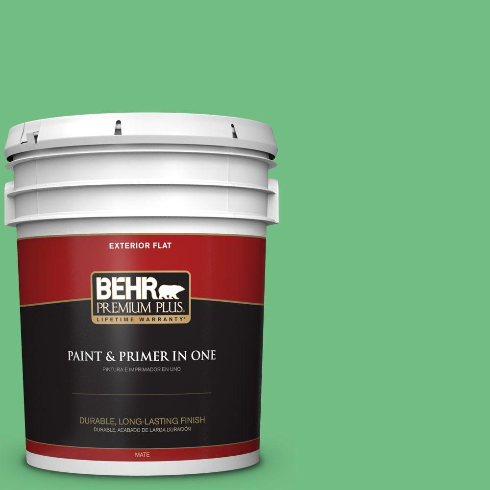 BEHR Premium Plus 5-gal. #P400-5 Winter Shamrock Flat Exterior Paint