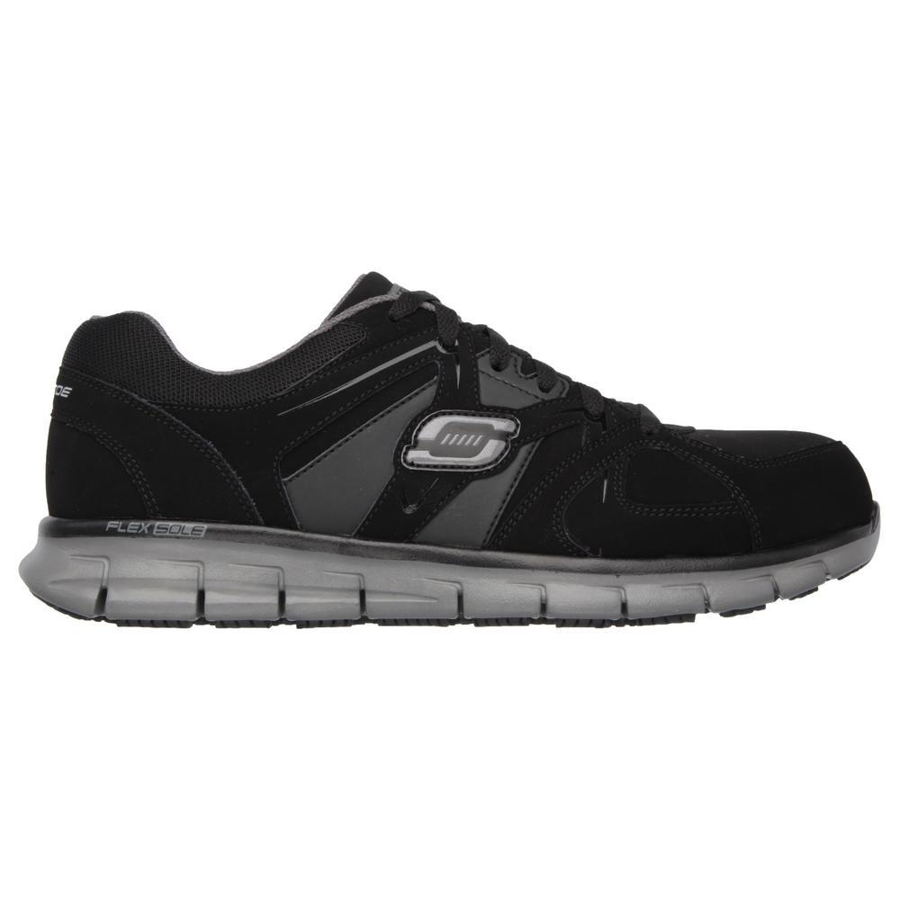 Skechers Men's Synergy Ekron Slip Resistant Athletic Shoes Alloy Toe BlackCharcoal Size 7(W)
