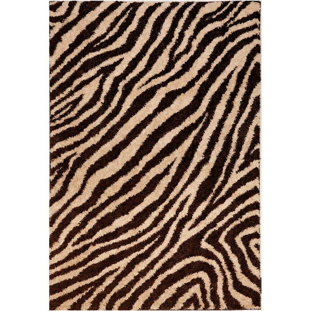 American Rug Craftsmen Brookfield Zebra Chocolate 8 ft. x 11 ft. Area Rug