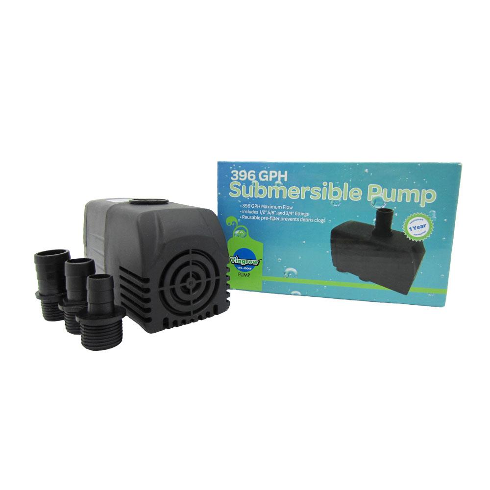 Viagrow 396 GHP Hydroponic, Fountain and Pond Submersible Pump-VHL ...