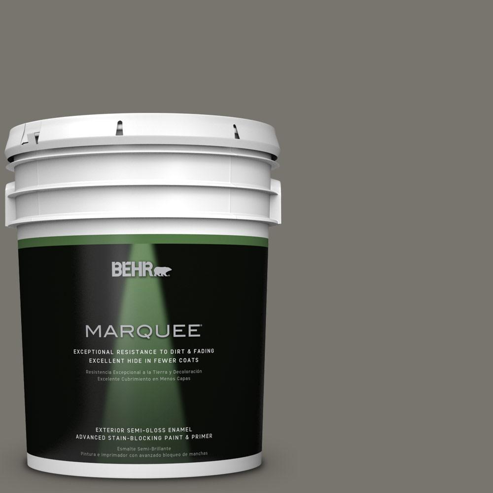 5 gal. #PPU24-06 Slippery Shale Semi-Gloss Enamel Exterior Paint