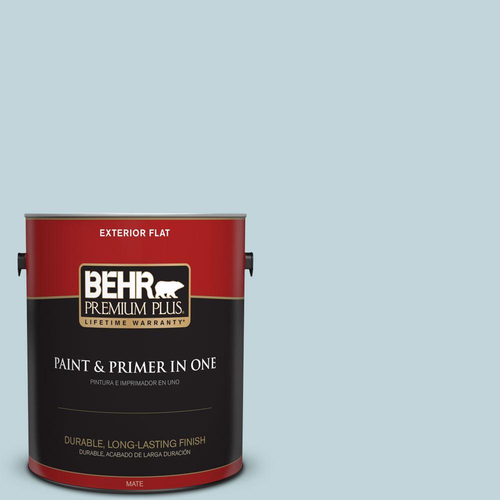 BEHR Premium Plus 1-gal. #S450-2 Wind Speed Flat Exterior Paint
