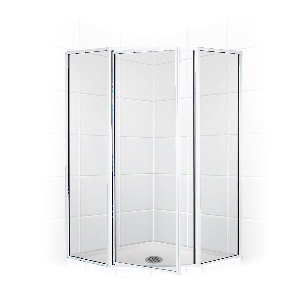 Legend Series 58 in. x 66 in. Framed Neo-Angle Shower Door