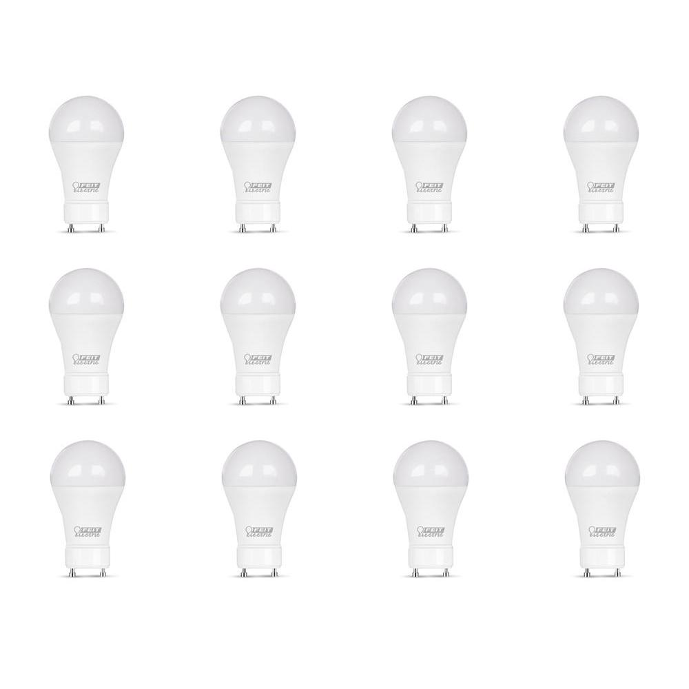 Feit Electric 60-Watt Equivalent A19 GU24 Dimmable CEC Title 24 Compliant LED ENERGY STAR 90+ CRI Light Bulb, Bright White (12-Pack)
