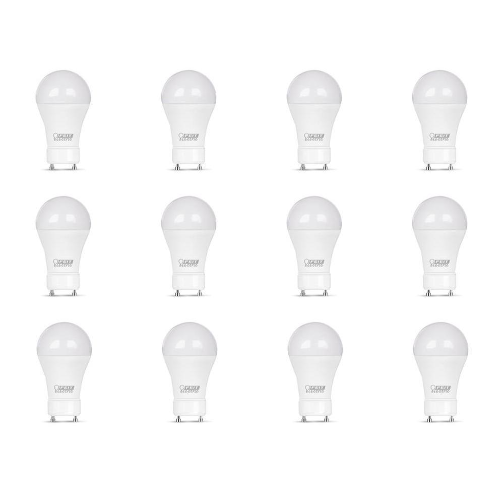 60-Watt Equivalent A19 GU24 Dimmable CEC Title 24 Compliant LED ENERGY STAR 90+ CRI Light Bulb, Bright White (12-Pack)