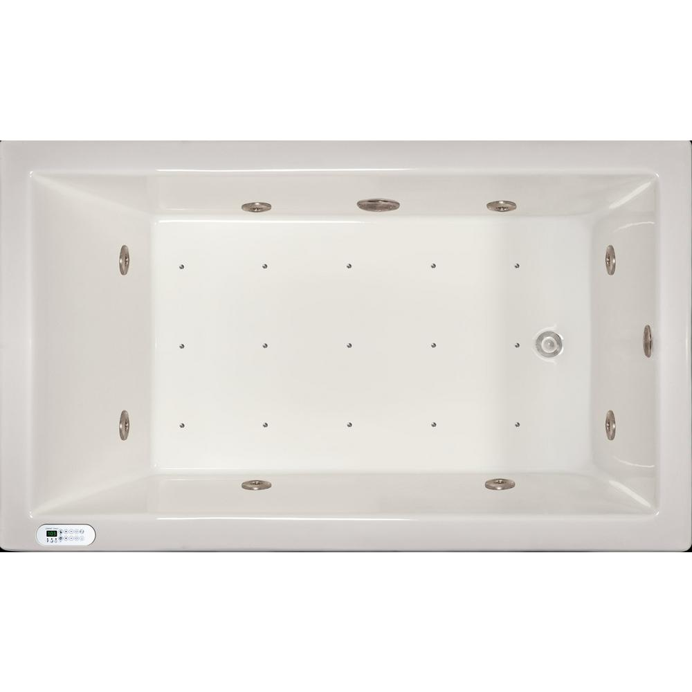 Pinnacle 4.96 ft. Left Drain Drop-In Rectangular Whirlpool and Air ...