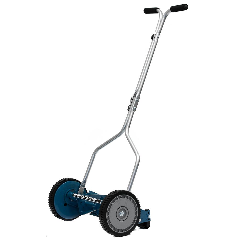 14 in. Walk Behind Non-Electric Manual Reel Lawn Mower