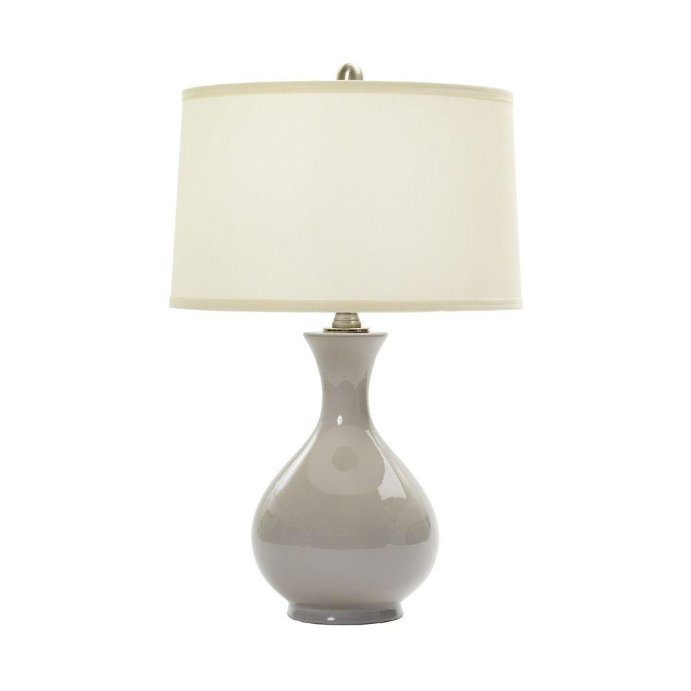 24 In Swanky Grey Ceramic Table Lamp W MR8747SWANKEY GREY