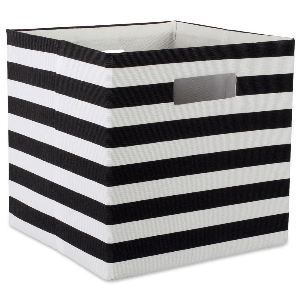 DII Square Polyester Stripe Storage Cube