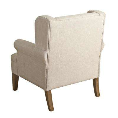 Cream Emerson Wingback Accent Chair