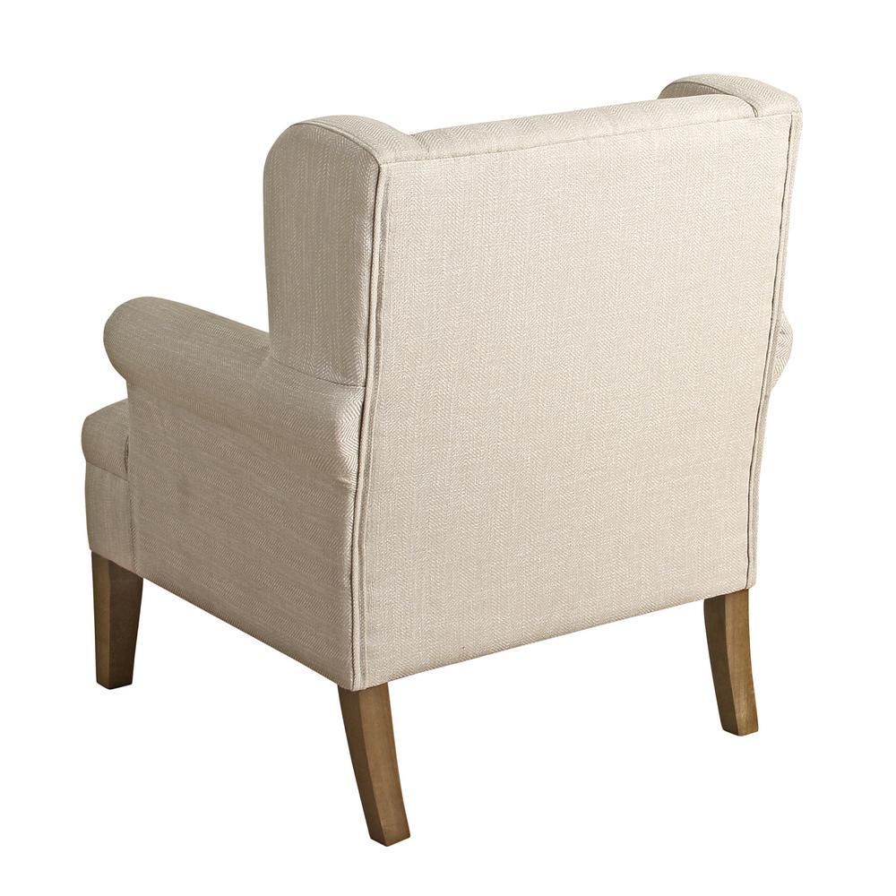 Homepop Cream Emerson Wingback Accent Chair K6699-F2148