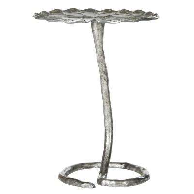Justina Silver Side Table