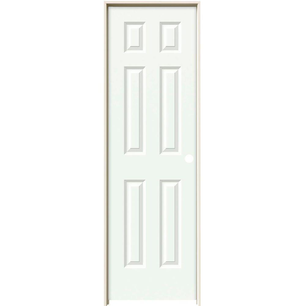 24 in. x 80 in. Colonist White Painted Left-Hand Smooth Solid