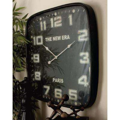 "28 in. x 28 in. ""The New Era"" Rounded Square Wall Clock"