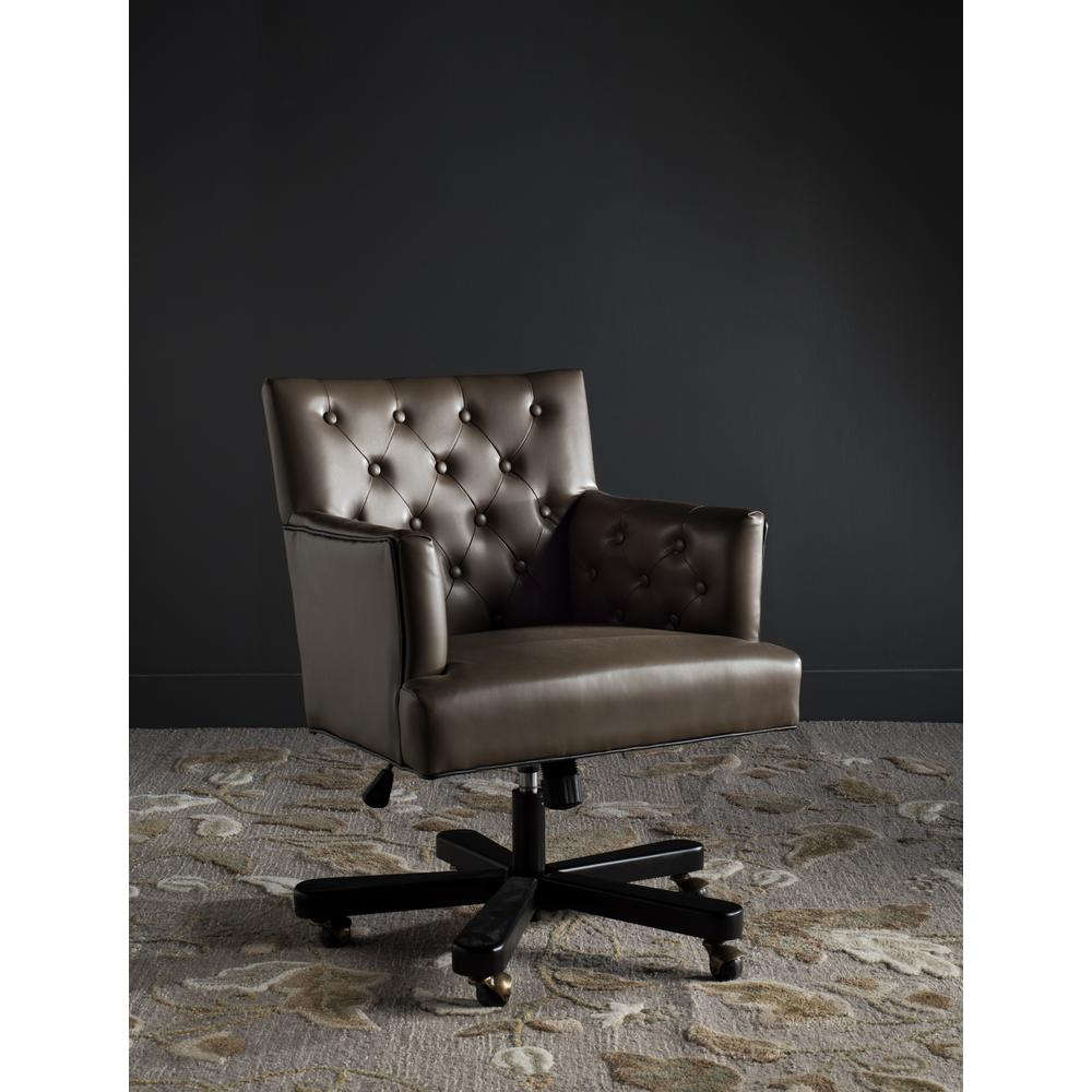 Prime Safavieh Chambers Brown Bicast Leather Office Chair Mcr4209A Pabps2019 Chair Design Images Pabps2019Com