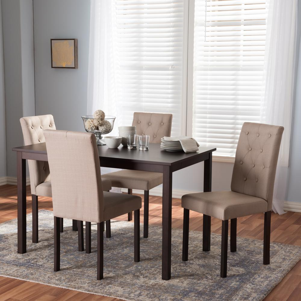 Jcpenney Dining Sets: Baxton Studio Andrew 10 Buttons 5-Piece Beige Fabric