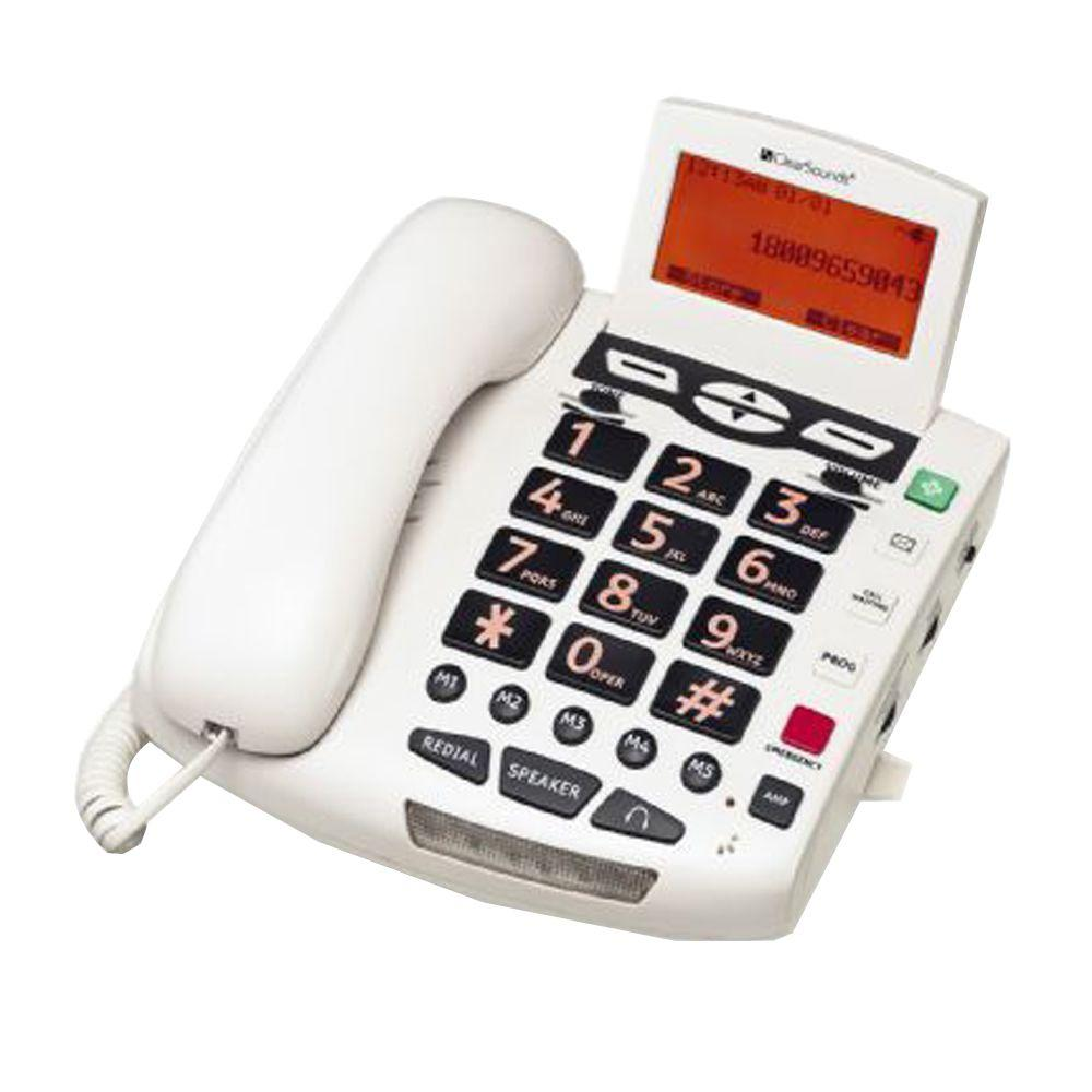 Big Button Amplified Speakerphone - White