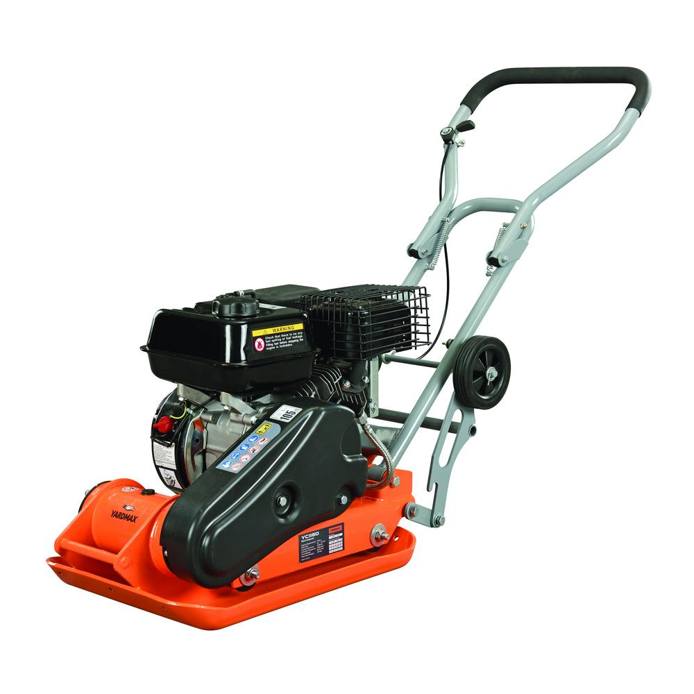 YARDMAX 2500 lb. Compaction Force Plate Compactor 6.5HP/196cc