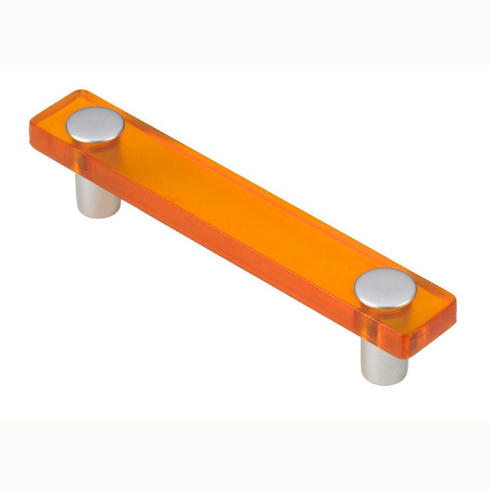 Siro Designs 96mm Decco Orange and Matte Aluminum Pull
