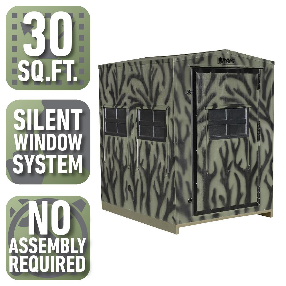 5 ft. x 6 ft. Insulated Gun and Crossbow Hunting Blind