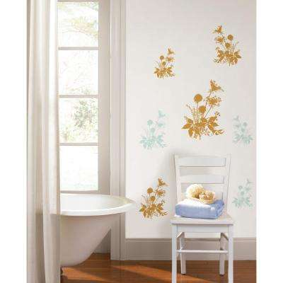 19.7 in. x 27.6 in. Wiesenblumen Wall Decal