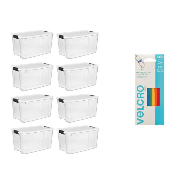 70 Qt. Storage Bundled with VELCRO Brand Wire & Cable Ties (8-Pack)