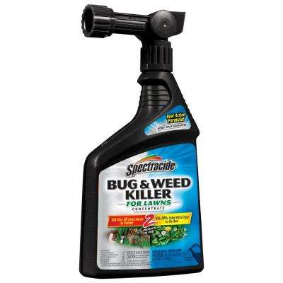 32 fl. oz. Ready-to-Spray Concentrate Bug and Weed Killer for Lawns