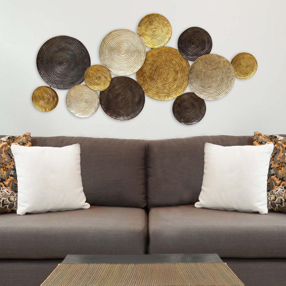 Multi Circles Metal Wall Decor