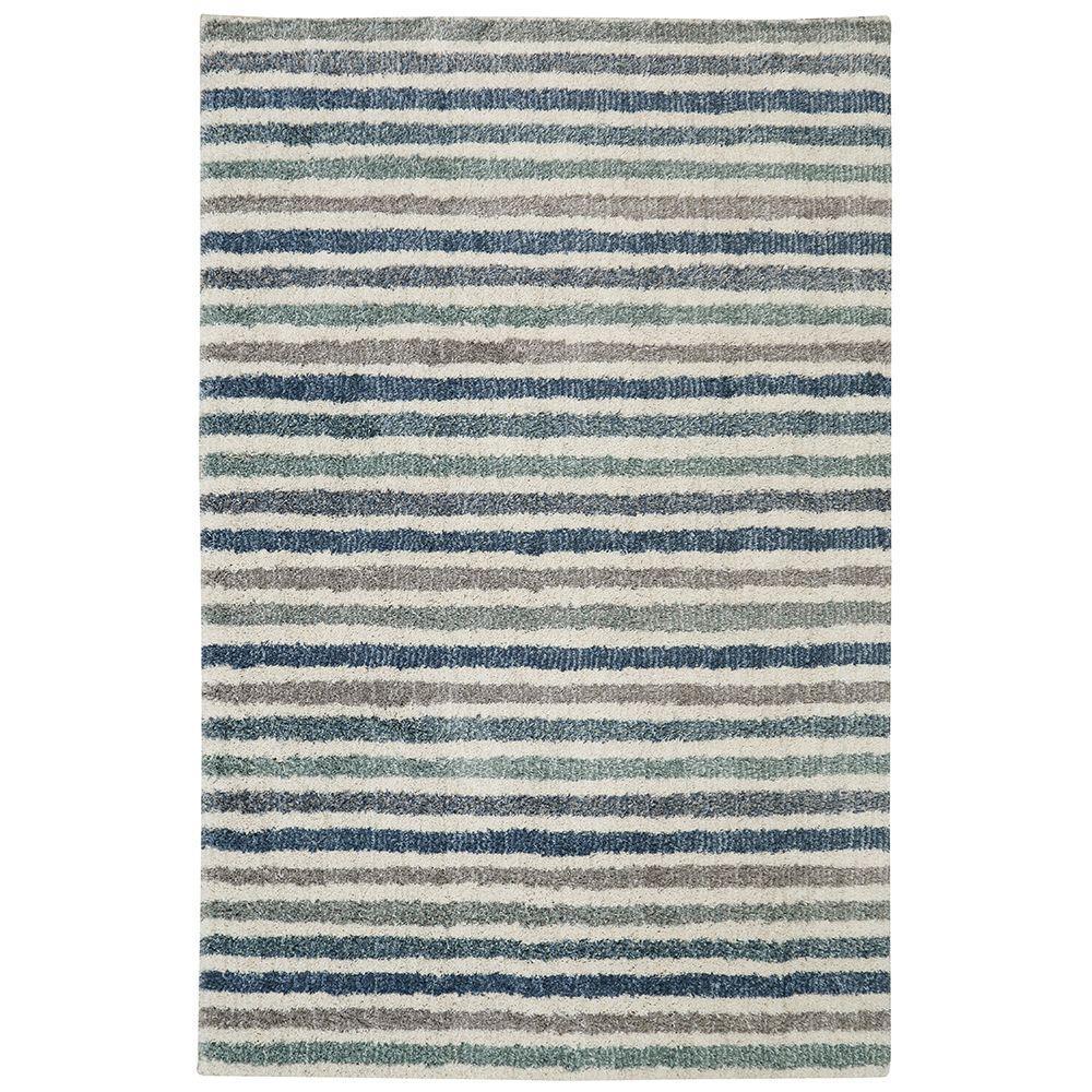 Boardwalk Stripe Blue 8 ft. x 10 ft. Indoor Area Rug